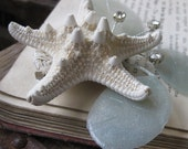 1/2 OFF SALE - starfish hair clip - By the Sea