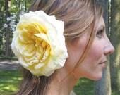 1/2 OFF SALE - garden rose hair fascinator - Sunny Day