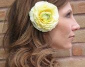 1/2 OFF SALE - sunny yellow ranunculus hair flower - A Sunny Day
