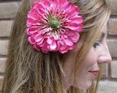 1/2 OFF SALE - fuschia flower hair clip - Fun n Flirty