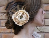 vintage white ranunclus hair clip - Wild Beauty