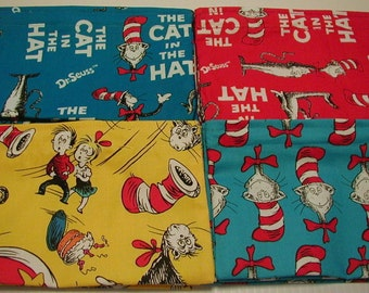 10pc Birthday Party Favor Reusable Snack Bags Dr. Seuss or Fabric of Your Choice