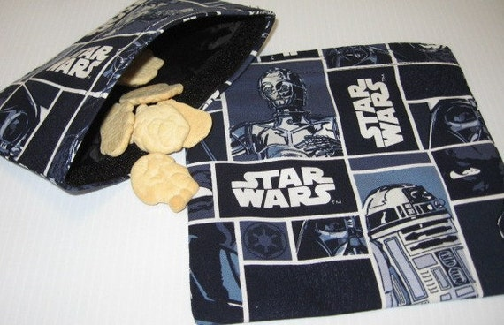 2pc Star Wars  Reusable Sandwich and Snack Bag