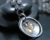 Summer Rain Citrine and Labradorite Necklace