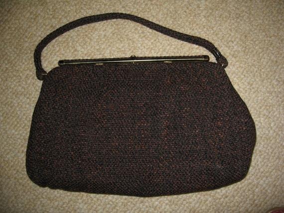 Vintage Spilene Handbag/Purse Brown Black