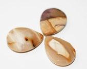 3 Mookaite Jasper Briolette Pendants