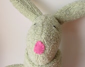 Softee's Twin PREORDER  - Natural Plush Fleece Bunny Toy - Baby safe - Waldorf inspired