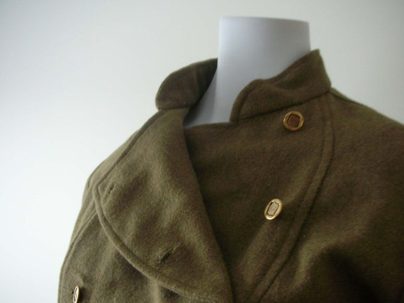 Military Style 50s Olive Green Cossack Blazer