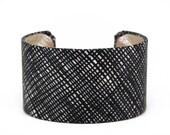 Crosshatch Fabric Cuff Bracelet