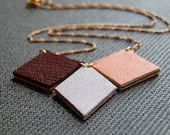 Sand and Sunset Diamond Reversible Necklace