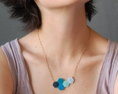 Geometric Necklace - Cool Shades Hexagon Reversible Necklace