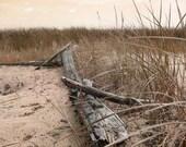 Photo Notecards, Summer's End, Six Cards, Beach Surf, Table and Chair, Beach Grass, Driftwood Log