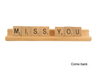Miss You Scrabble Card, Come Back, Scrabble Letters, Separation Anxiety, Heartbreak