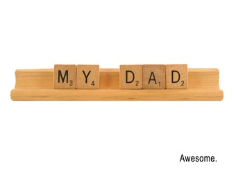 Father's Day Card, My Dad - Awesome,  Scrabble Greeting Card, Birthday Greeting, All Occasion Card