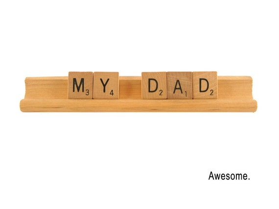 Father's Day Card, My Dad - Awesome,  Scrabble Greeting Card, Birthday, All Occasion