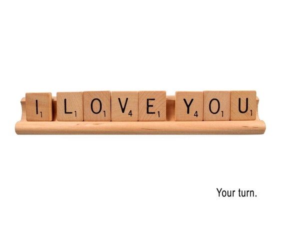 Scrabble Love Card - Your turn, Valentine card, Engagement card, Birthday card