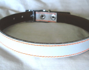 Cool Leather Dog Collar White Wedding
