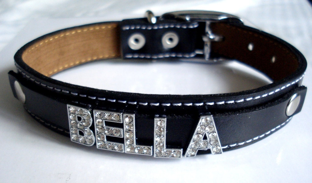Personalized Bling Dog Collars