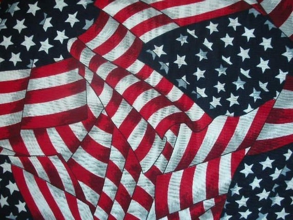 AMERICAN FLAG Cotton Fabric/Yardage....Red/White/Blue....Stars/Stripes.....(HALF yard) for sale