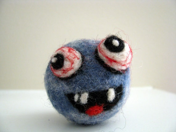 Friendly Monster Under the Bed - Needle Felted Night Time Guardian