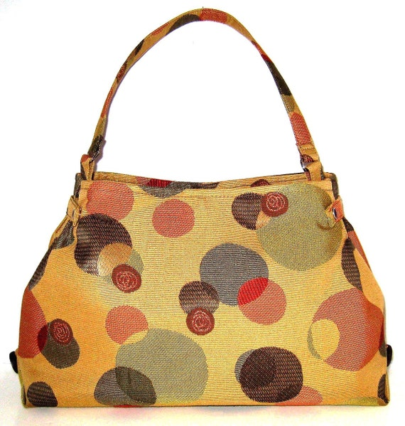 Tan Purse With Whimsical Dots