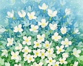 Spring Burst - 8x10 archival watercolor print by Tracy Lizotte