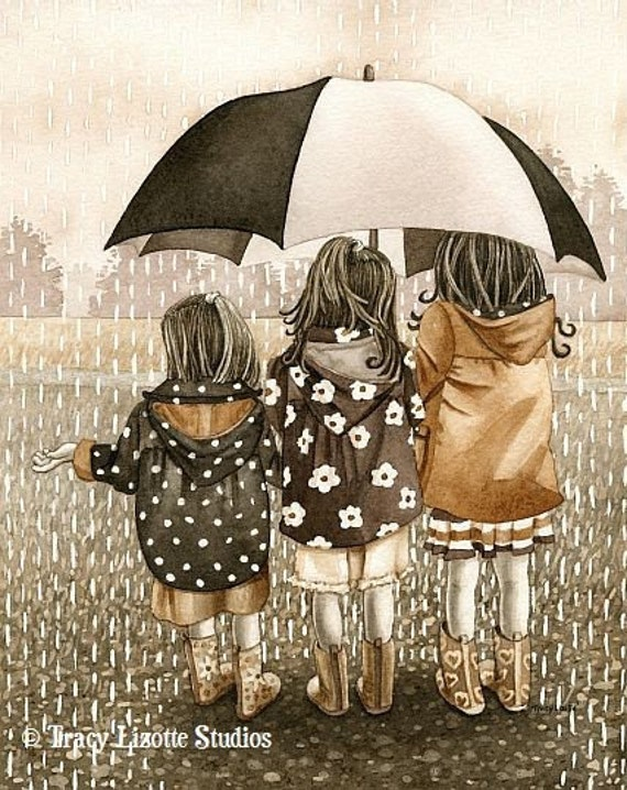 Rainy Day - 8x10 archival watercolor print by Tracy Lizotte