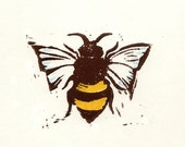 Block Print:  Way to Bee