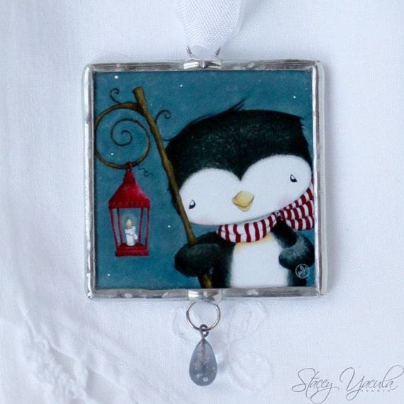Limited Edition Luxury Christmas Ornaments: Christmas Ornament Penguin Limited Edition Glass
