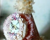 French Vintage SWEET BEBE Party Hat -  part of The Rocksie Rousell Collection