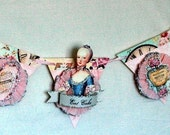 EAT CAKE Marie Antoinette French Frilly Glittery  Banner