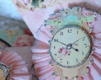 EAT CAKE Marie Antoinette French Frilly Glittery  Banner