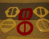 Belt buckles plastic from the 60's