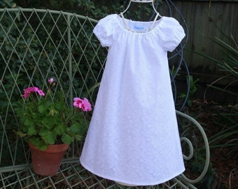 Handmade Flower girl or Baptism and special days  Available in size 5..6..7..and 8