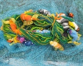 Handspun Art Yarn KOI POND by Fiber Artist Gerry