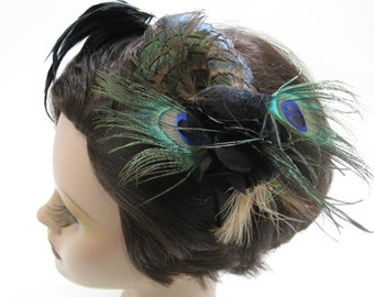 Black Bird Feather Hair Band