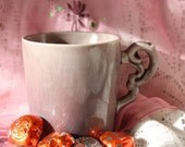 Purple Crackle Finish Soy Wax Candle Mug