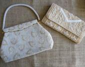 2 Vintage Beaded Purses, Handbags, Clutch Purse, Treasury Item