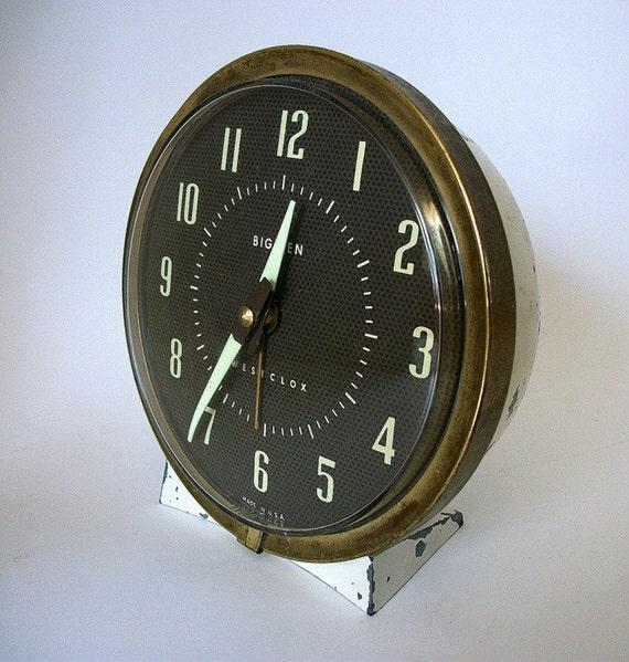 Vintage Big Ben Wind Up Alarm Clock, Rustic Shabby Farmhouse Retro Style Clock, Old Alarm Clock, Treasury Item