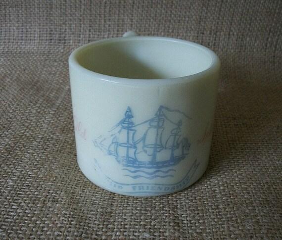Vintage Shaving Mug, Vintage Ship Mug, Old Spice Shaving Mug, Vintage Nautical Mug, Vintage Old Spice Shaving Soap Mug,  Shaving Soap Mug