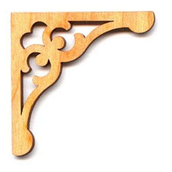 Wood Cut Out - Corner Bracket -- 2x2 Inches - 2 Pieces - RR5104