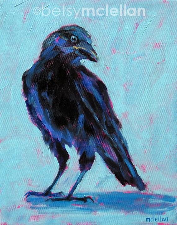 Black Crow - Original Painting - 8x10