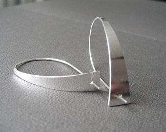 Sleek Silver Earrings, Sterling Silver Earrings, Contemporary Design, Modern Earrings, Sleek Silver