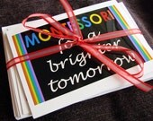 MONTESSORI FOR A BRIGHTER TOMORROW Note Cards (Set of 10)