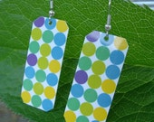 Mod Polka Dots Upcycled Earrings