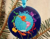 Peaceful Animal Kingdom Glossy Ornament