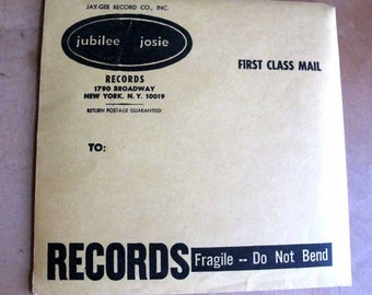 Vintage 1960s Jubilee Josie Jay Gee Record Mailing Envelopes
