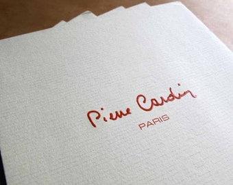 Vintage Pierre Cardin Paris Stationery 1980s