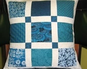 Shabby Chic Turquoise Pillow Cover