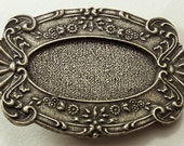 2 Buckle, 3 inch Oval Victorian Lace Buckle Base, Vintage Bronze Finish, BU134